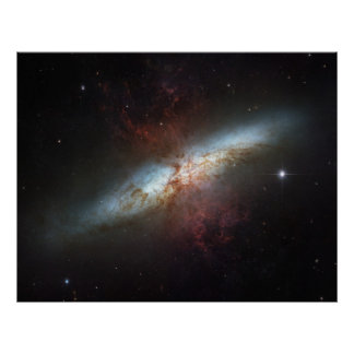 The Magnificent Starburst Galaxy, Messier 82 (M82) Poster