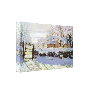 The Magpie by Claude Monet Canvas Print