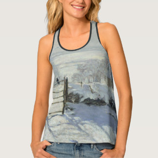 The Magpie by Claude Monet GalleryHD Fine Art Tank Top
