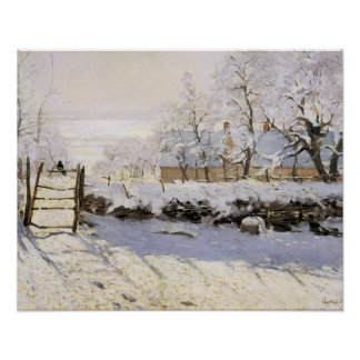 The Magpie by Monet Poster