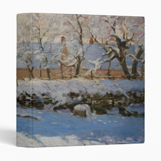 The Magpie La Pie by Claude Monet 3 Ring Binder