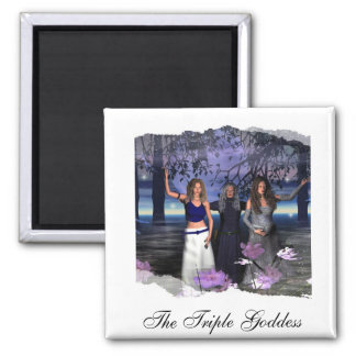 The Maiden, Mother and Crone Square Magnet