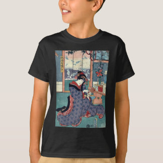 The maiden of the liquor store by Utagawa,Toyokuni T-Shirt
