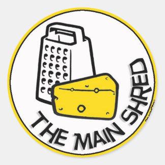The 'Main Shred' merchandise Classic Round Sticker