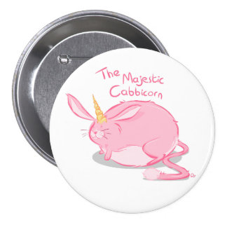 The Majestic Cabbicorn - Badge 3 Inch Round Button