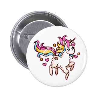 The Majestic Llamacorn 2 Inch Round Button