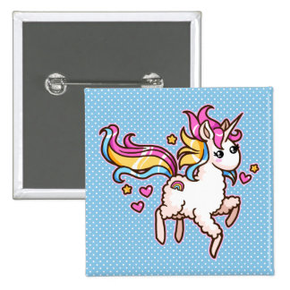 The Majestic Llamacorn 2 Inch Square Button