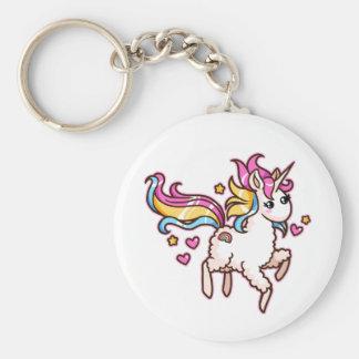 The Majestic Llamacorn Basic Round Button Keychain