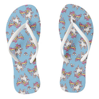 The Majestic Llamacorn Flip Flops