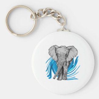 THE MAJESTIC ONE BASIC ROUND BUTTON KEYCHAIN