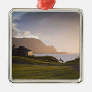 The Makai golf course in Princeville 3 Metal Ornament