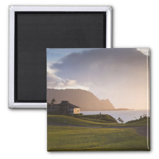 The Makai golf course in Princeville 3 Square Magnet