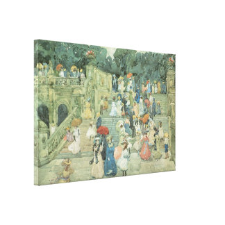 The Mall, Central Park, 1901 Stretched Canvas Print
