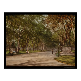 The Mall Central Park NYC 1900 Poster
