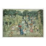 The Mall, Central Part, 1901 Maurice Prendergast Print