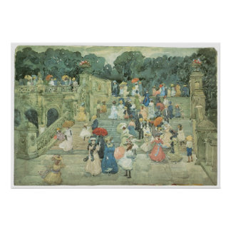 The Mall, Central Part, 1901 Maurice Prendergast Poster