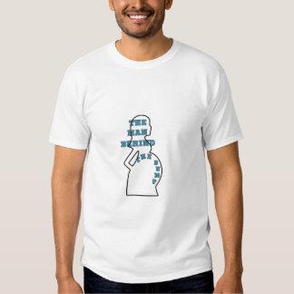 The Man Behind The Bump tee shirt