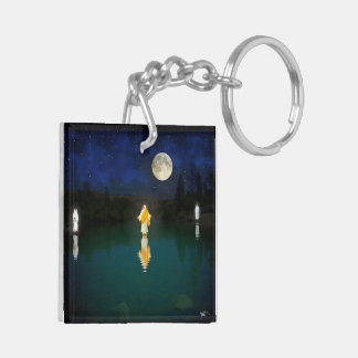 The Man Clothed In Linen Double-Sided Square Acrylic Keychain