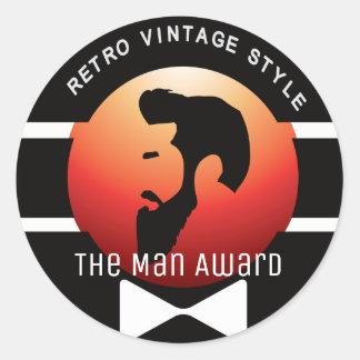 THE MAN (GENTLEMAN AND SCHOLAR RED) sticker