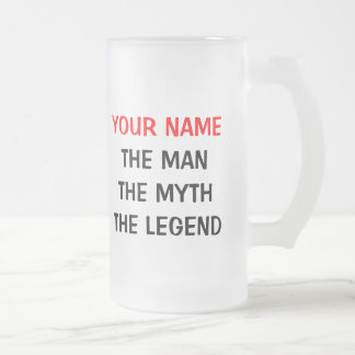 The man myth legend glass beer mug | Personalized