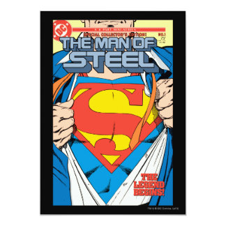 """The Man of Steel #1 Collector's Edition 5"""" X 7"""" Invitation Card"""