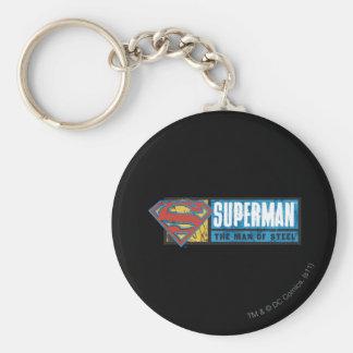 The Man of Steel Basic Round Button Keychain