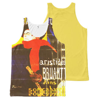 The man of the red scarf and the black layer All-Over-Print tank top