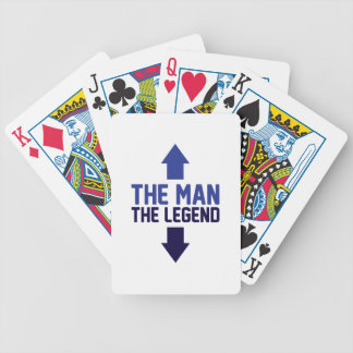 The Man The Legend Bicycle Playing Cards