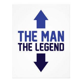 The Man The Legend Letterhead