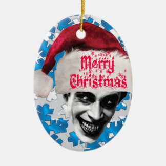 The Man Who Laughs at Christmas Ceramic Ornament