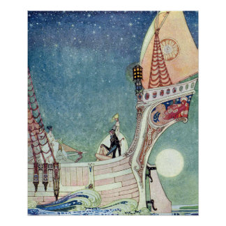 The Man Who Never Laughed by Kay Nielsen Poster