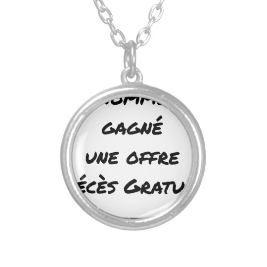 THE MAN WITH GAINED FREE A DEATH OFFER SILVER PLATED NECKLACE