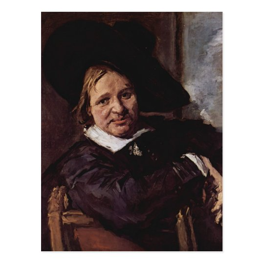 The Man with the Slouch Hat  by Frans Hals Postcard