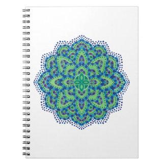 The Mandala-Cool Emerald Notebooks