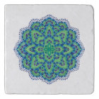 The Mandala-Cool Emerald Trivet
