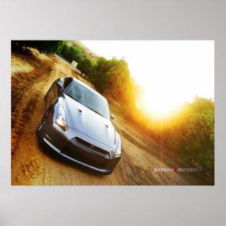 """The Mandarin"" Poster Print Nissan GT-R in Grove"