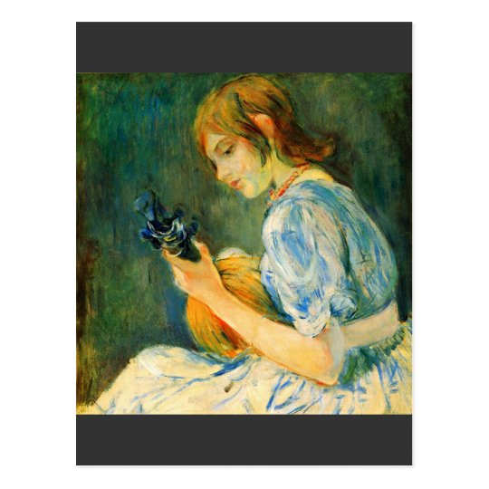 The Mandolin by Berthe Morisot Postcard
