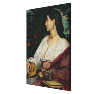 The Mandolin Player, 1865 Gallery Wrapped Canvas