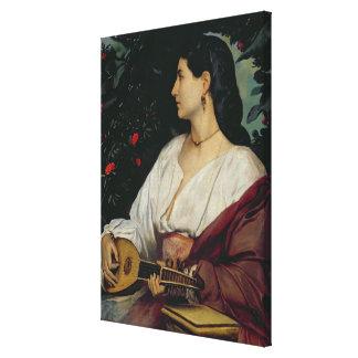 The Mandolin Player, 1865 Canvas Print