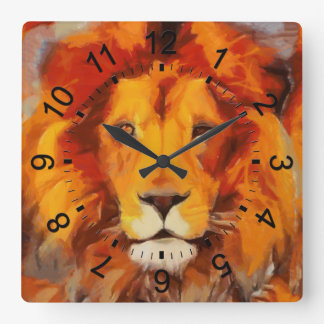 The Mane Event Square Wall Clock