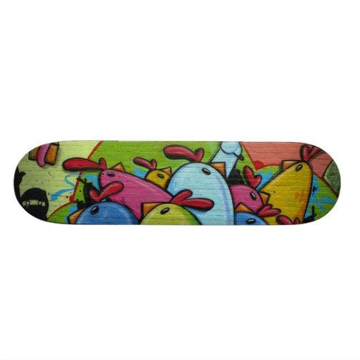 The manifestation of hens - skateboard decks