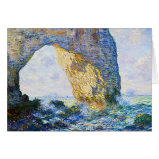 The Manneport, Rock Arch West of Etretat Monet Card
