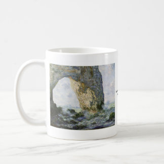 The Manneporte by Claude Monet Basic White Mug