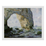 The Manneporte by Claude Monet Poster