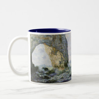 The Manneporte by Claude Monet Two-Tone Mug