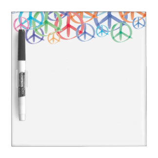 The Many Colors of Peace Signs Dry Erase Board