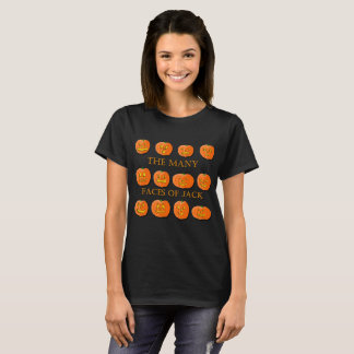 The Many Faces of a Jack-O-Lantern T-Shirt