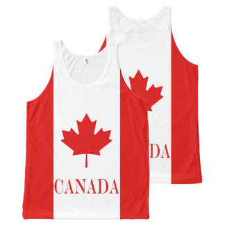 The Maple Leaf flag of Canada All-Over-Print Tank Top