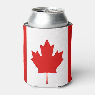 The Maple Leaf flag of Canada Can Cooler