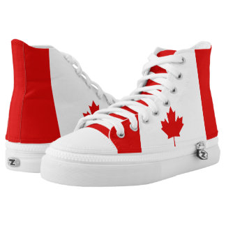 The Maple Leaf flag of Canada High Tops